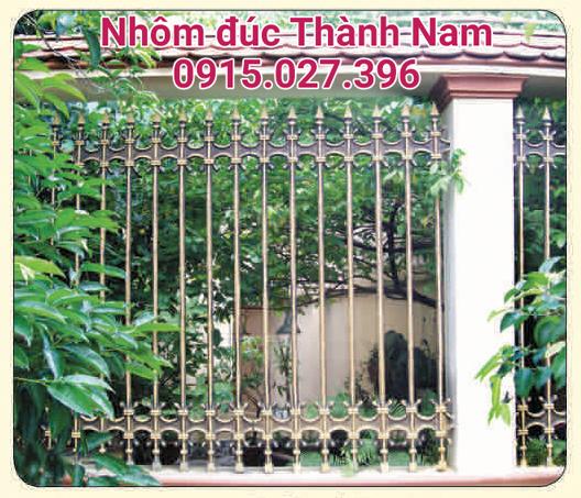Hàng rào hợp kim nhôm đúc cao cấp Thành Nam RG07